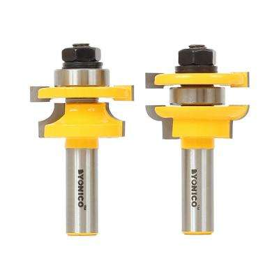 Rail & Stile Round Over 1/2 in. Shank Carbide Tipped Router Bit Set (2-Piece)
