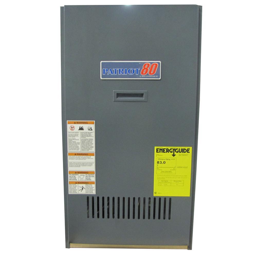 Patriot 80 84% AFUE 95,000 BTU Output Oil Hot Air Furnace Lowboy Front Flue 119,000 BTU Input
