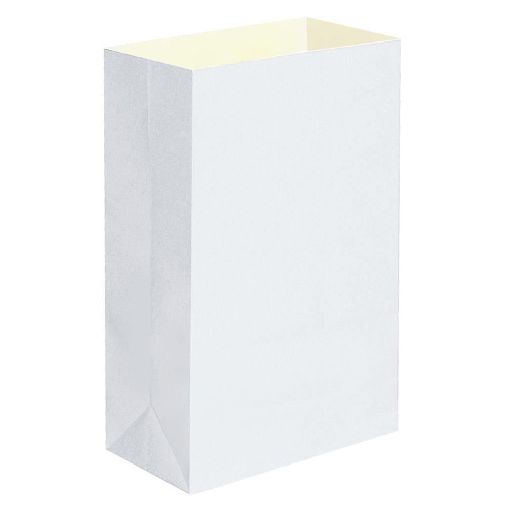 Lumabase Plastic White Luminaria Bags (12-Count)