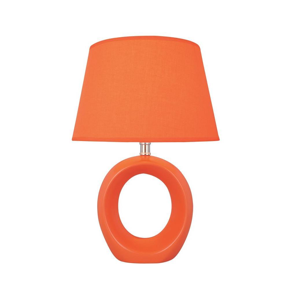 15.8 in. Orange Table Lamp