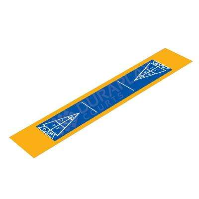 9 ft. 6 in. x 51 ft. 4 in. Royal Blue and Yellow Single Shuffleboard Kit