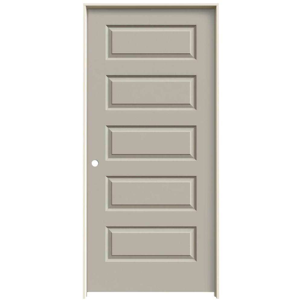Jeld Wen 36 In X 80 In Rockport Desert Sand Painted Right Hand Smooth Molded Composite Mdf