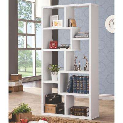 Livingston White Bookcase