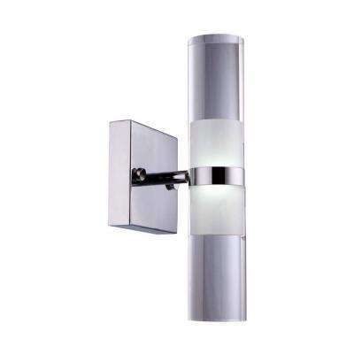 Kabah 6-Watt Chrome Integrated LED Sconce