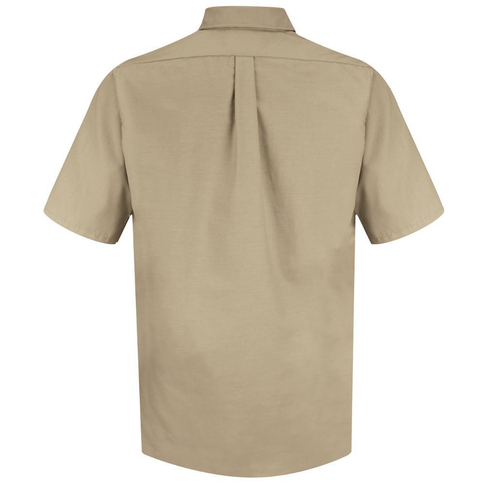 Red Kap Mens Size Xl Khaki Poplin Dress Shirt