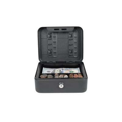 Compact Size Cash Box with Key Hooks