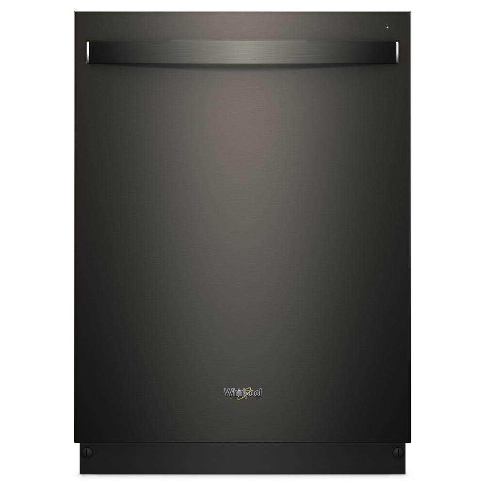 Whirlpool Top Control Built-In Tall Tub Dishwasher in Fingerprint Resistant Black Stainless with Stainless Steel Tub, 47 dBA
