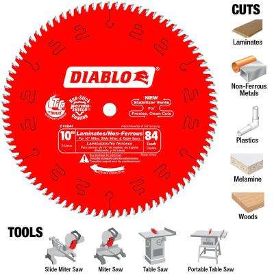 10 in. x 84-Tooth Laminate/Non-Ferrous Metal Cutting Saw Blade