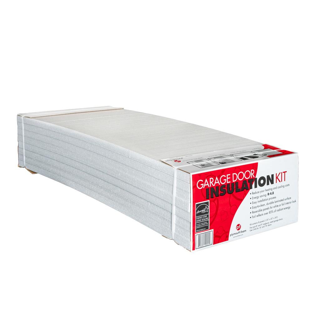 Garage Door Insulation Kit 8 Reflective White Panels Gdikspf The Home Depot