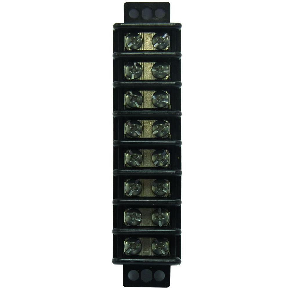 Gardner Bender 22-10 AWG 8-Circuit Terminal Block (1-Pack)