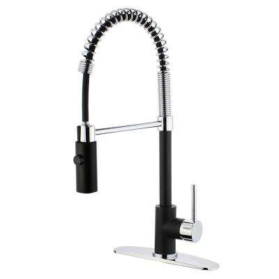 Single Handle Pull Down Sprayer Kitchen Faucet ...