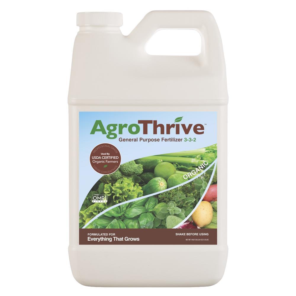 AgroThrive 64 oz. General Purpose Organic Liquid Fertilizer