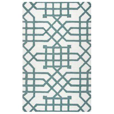 Azzura Hill Ivory Geometric 9 ft. x 12 ft. Indoor/Outdoor Area Rug