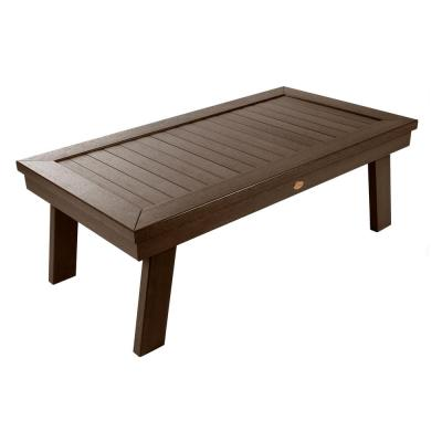 Adirondack Weathered Acorn Rectangular Plastic Outdoor Coffee Table