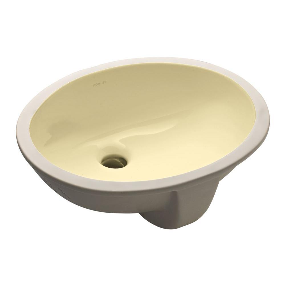 KOHLER Caxton Undermount Bathroom Sink in Sunlight-DISCONTINUED