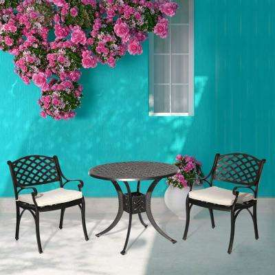 Hephaestus 3-Piece Aluminum Outdoor Dining Set with Oat Cushions