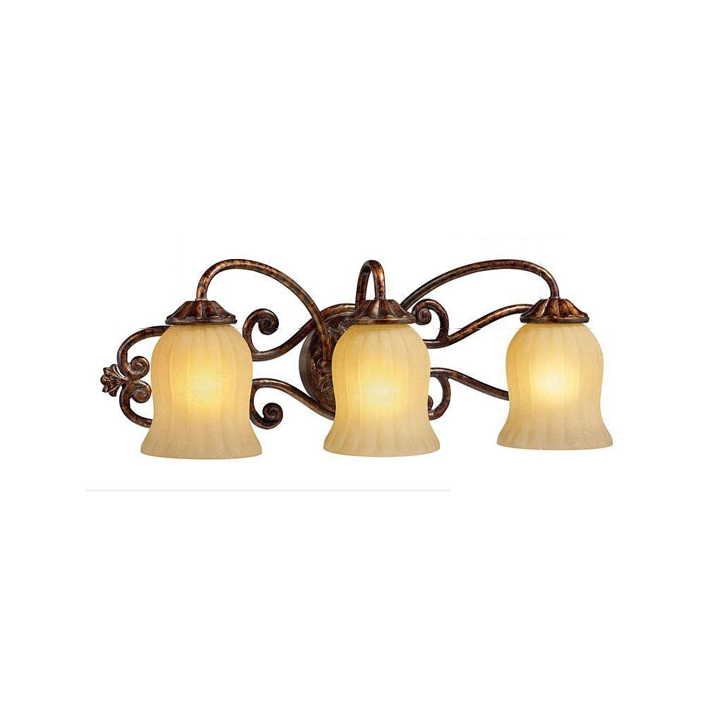 Hampton Bay Freemont Collection 3 Light Antique Bronze Wall Sconce