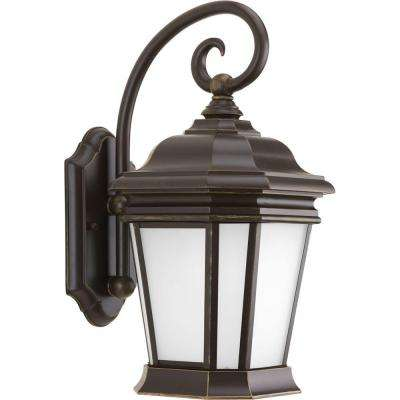 Crawford Collection 1-Light Oil-Rubbed Bronze 16.75 in. Outdoor Wall Lantern