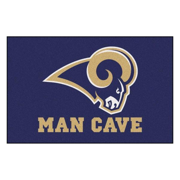 NFL Los Angeles Rams Blue Man Cave 2 ft. x 3 ft. Area Rug