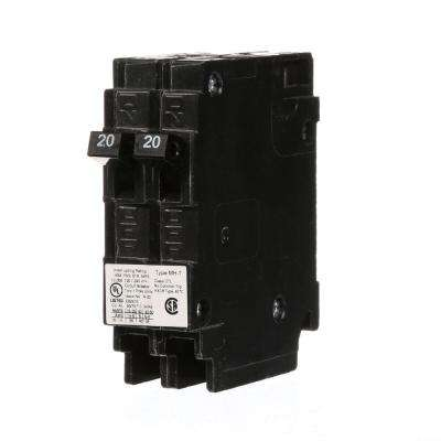 (2) 20 Amp Tandem Single Pole Type MH-T Circuit Breaker