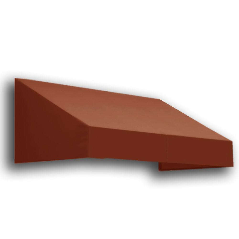 AWNTECH 12 ft. New Yorker Window/Entry Awning (24 in. H x 42 in. D) in Terra Cotta