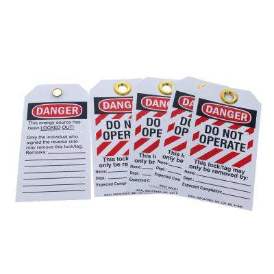 "Lockout Tag Heavy Duty ""Do Not Operate"" Striped 5/Card"