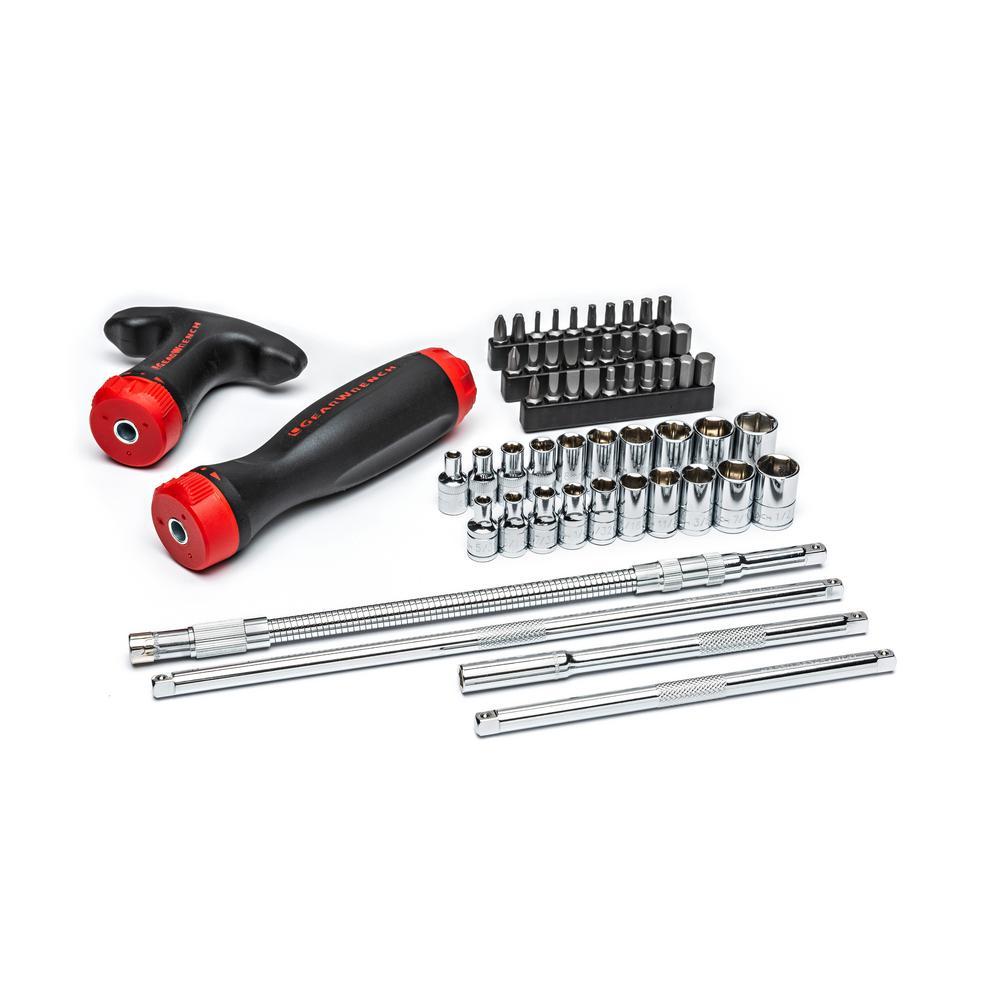 Ratcheting GearDriver Screwdriver Set (56-Piece)