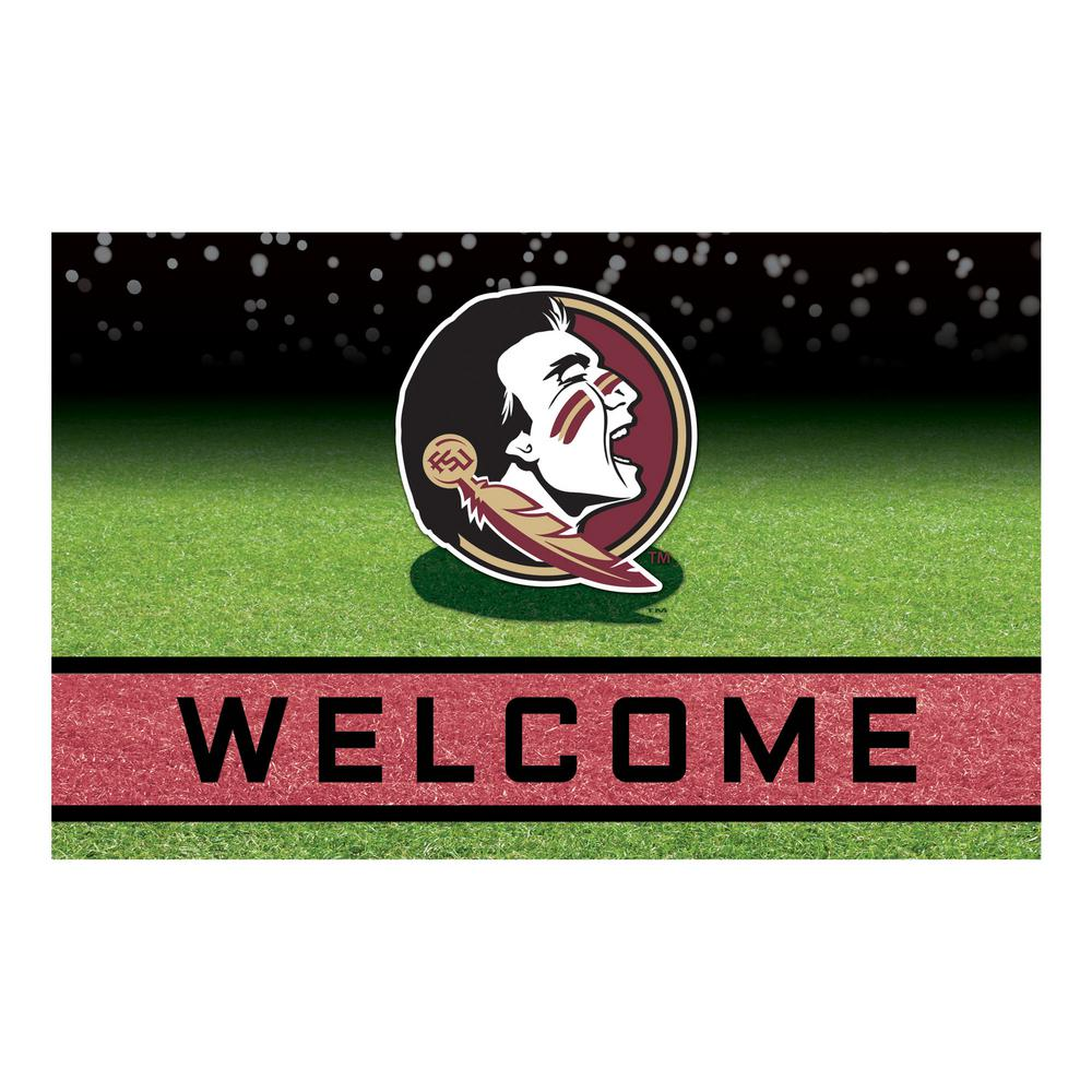 65e284543bc FANMATS Florida State University 18 in. x 30 in. Rubber Door Mat ...