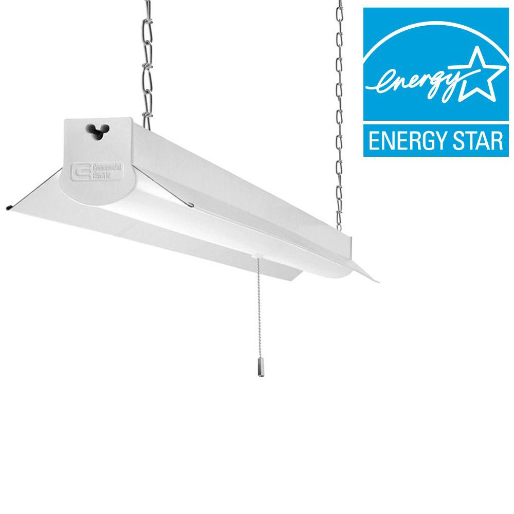 Commercial lighting lighting the home depot brightcool white integrated led linkable shop light fixture arubaitofo Images