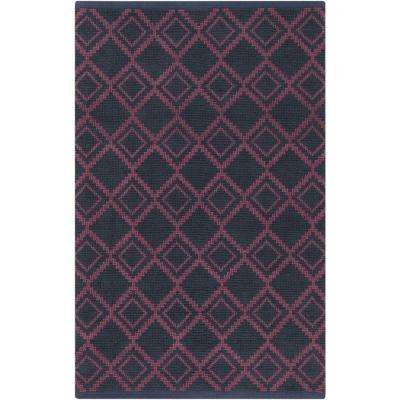 Aztec Navy 2 ft. x 3 ft. Indoor Area Rug