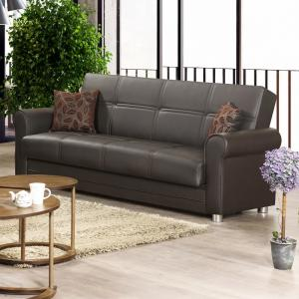 Ottomanson Avalon Plus Leatherette Upholstery Sofa Sleeper Bed