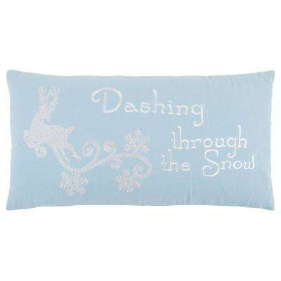 Christmas Dashing Through the Snow 14 in. x 26 in. Decorative Filled Pillow