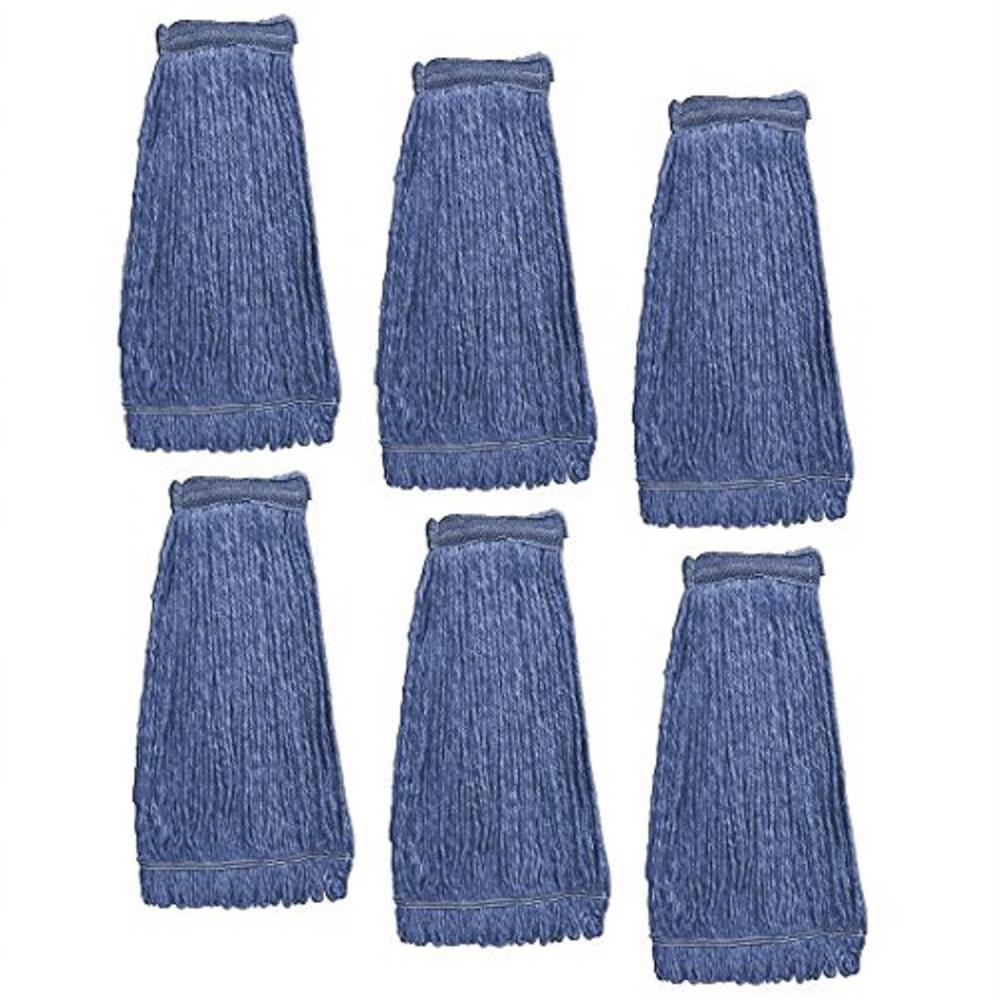 KLEEN HANDLER Heavy-Duty Commercial Mop Head Replacement, Cleaning Mop Head Refill (Pack of 6)