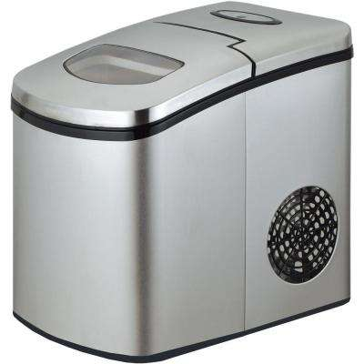 2 lbs. Freestanding Countertop Icemaker in Stainless Steel