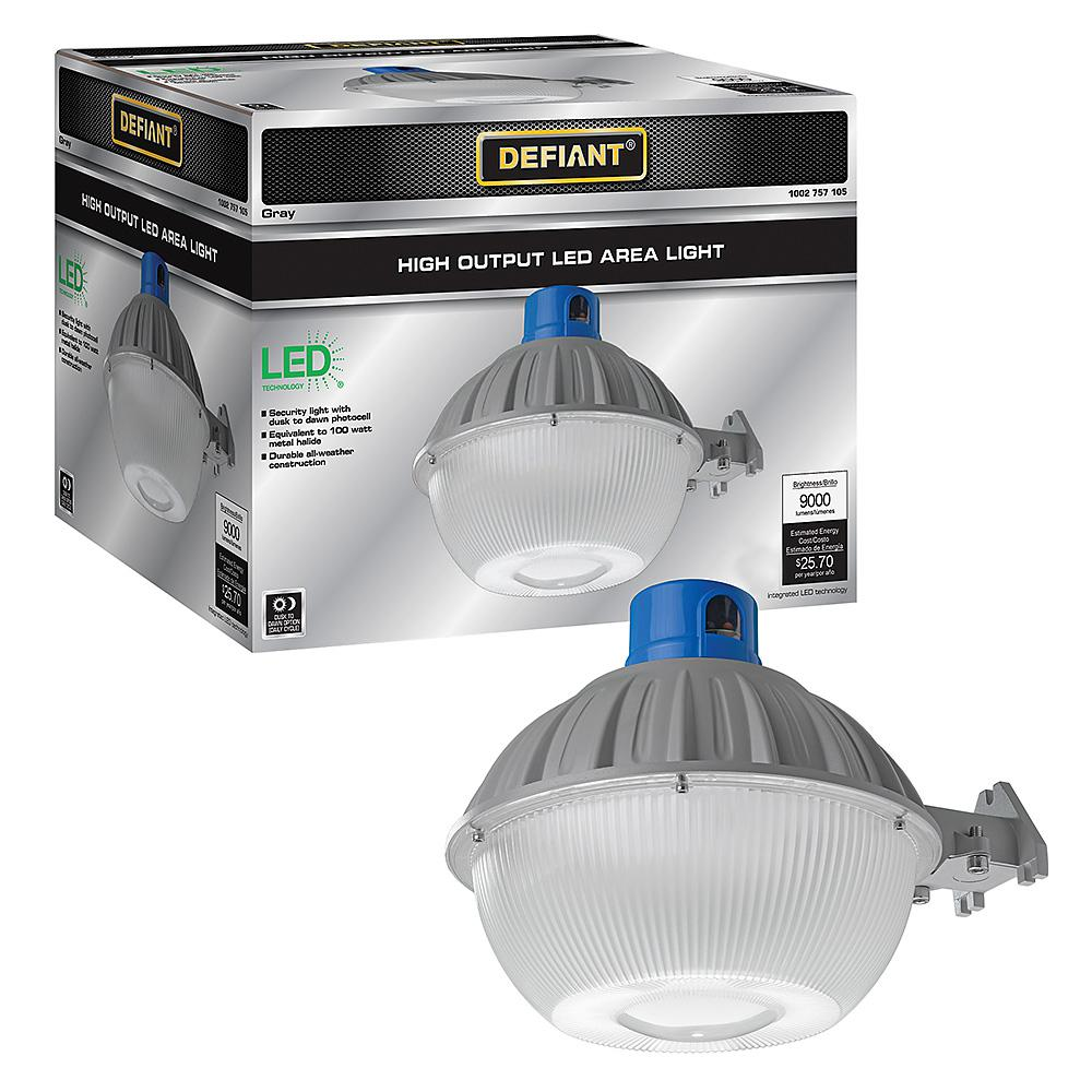 Defiant High Output Dusk to Dawn Integrated LED Grey Outdoor Area Light 9000 Lumens 400-Watt Equivalent 5000K Daylight was $99.97 now $49.97 (50.0% off)