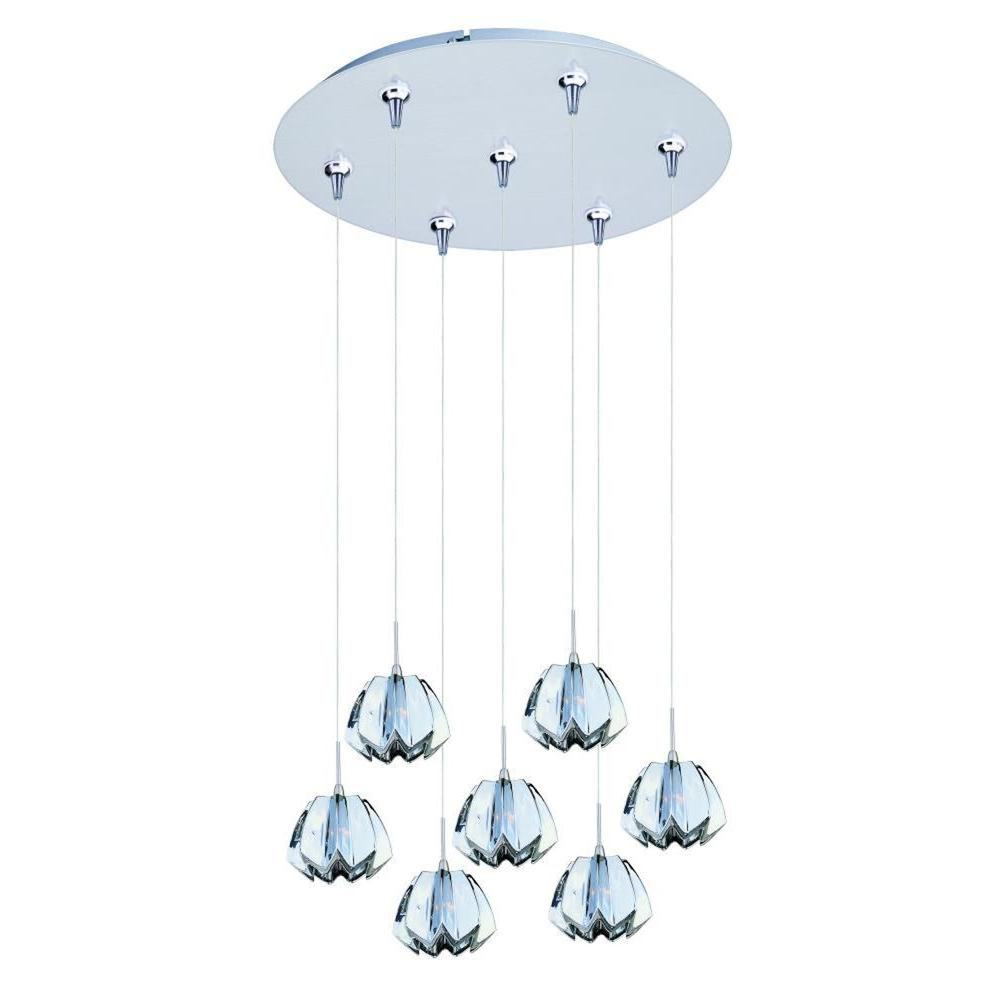 CLI Coit 7-Light Satin Nickel Xenon Pendant
