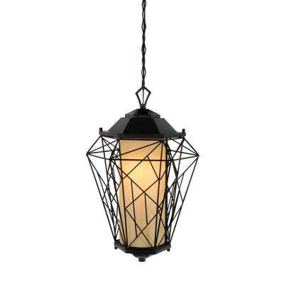 Wright Stuff 1-Light Black Hanging Outdoor Pendant