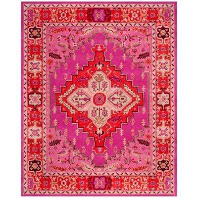 Bellagio Red/Pink 9 ft. x 12 ft. Area Rug