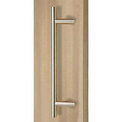 72 in. Offset Ladder Style Back-to-Back Brushed Satin Stainless Steel Door Pull Handleset for Easy Installation