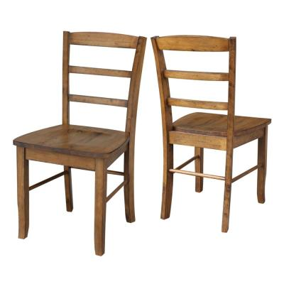 Madrid Distressed Pecan Dining Chair (set of 2)