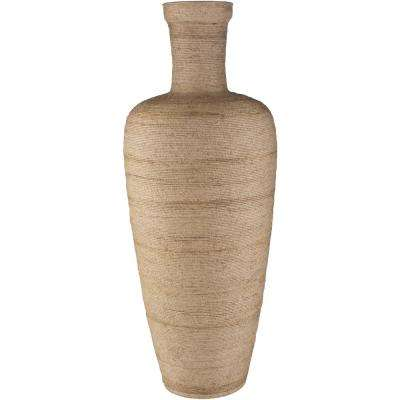 Oeldo 31 in. Beige Jute Decorative Vase
