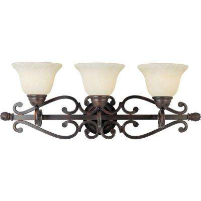 Manor 3 Light Oil Rubbed Bronze Bath Vanity Light