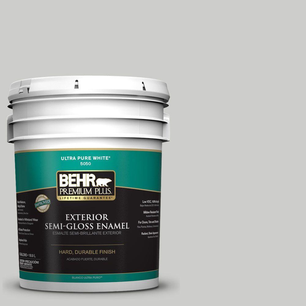 BEHR Premium Plus 5-gal. #PPL-64 Pewter Vase Semi-Gloss Enamel Exterior Paint