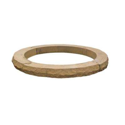 Ledgestone 42 in. x 4 in. Tan Variegated Fire Pit Additional Layer Kit