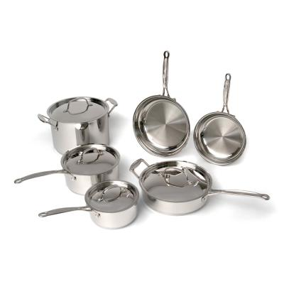 EarthChef Premium 10-Piece Stainless Steel Cookware Set with Lids