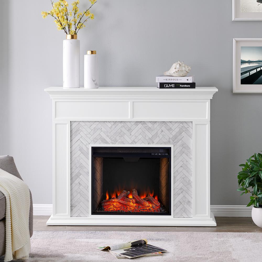 Southern Enterprises Doris Alexa-Enabled Tiled Marble 50 ...