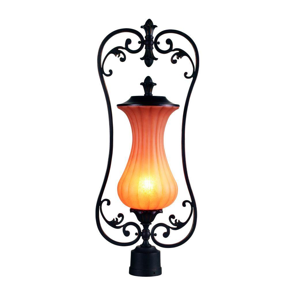 Eurofase Corsica Collection Outdoor Aged Iron Post Light-DISCONTINUED