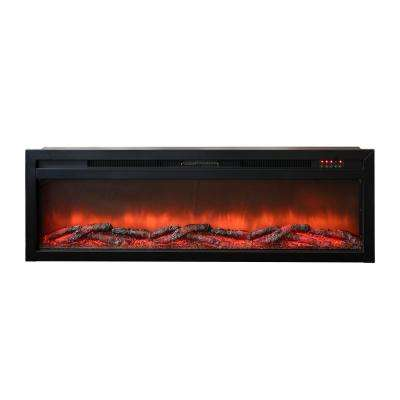 Bruiser 63 in. W 5000 BTU Electric Fireplace Insert