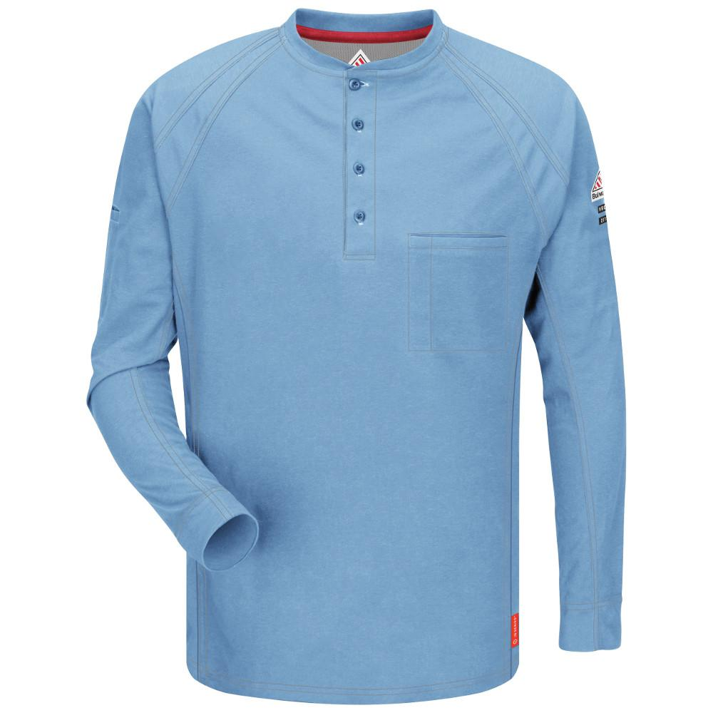 IQ Men's 2X-Large (Tall) Blue Long Sleeve Henley