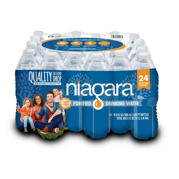 16.9 fl. oz. Purified Drinking Water (24-Pack)